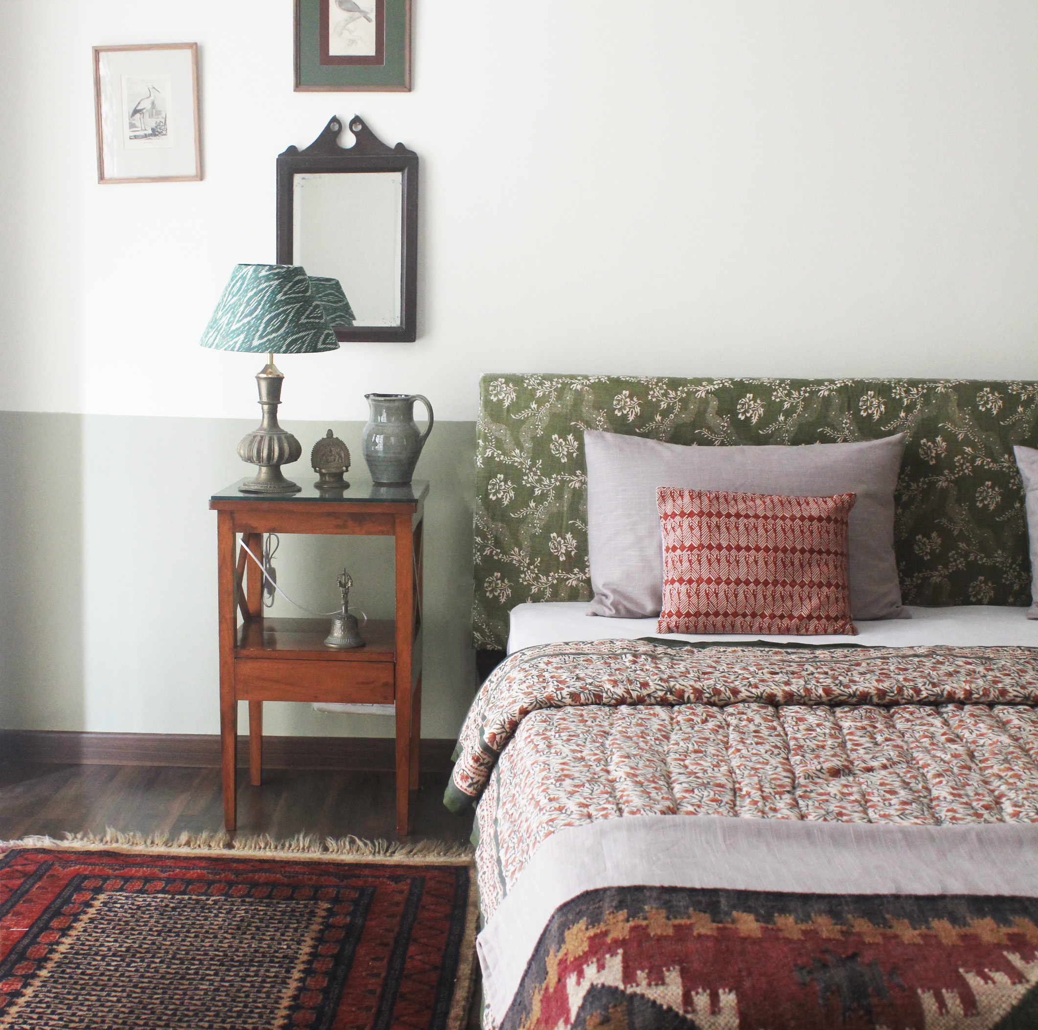 bedroom, india, textiles, interior design