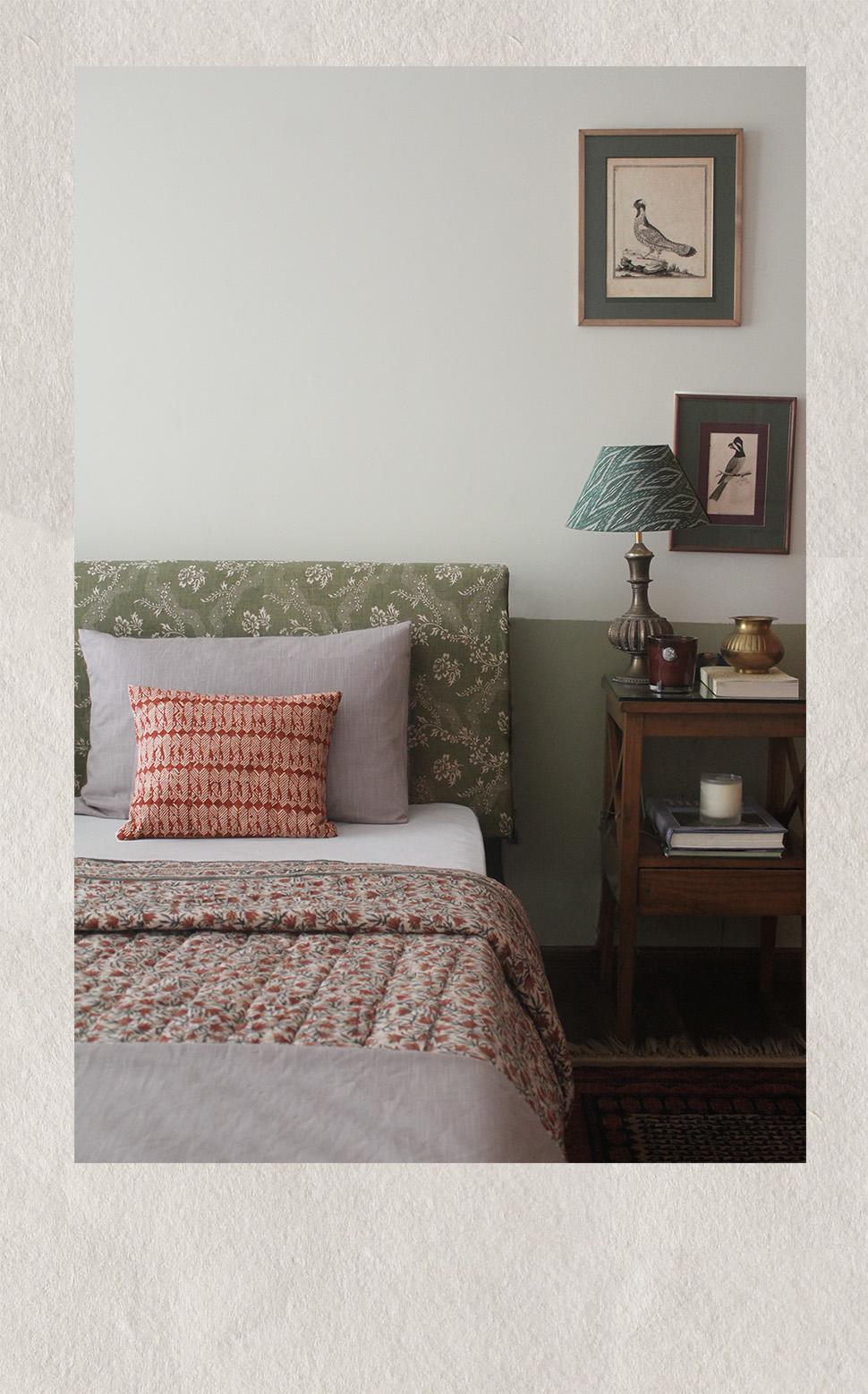 bedroom, fabric, india, textile, birds, ikat, fab india