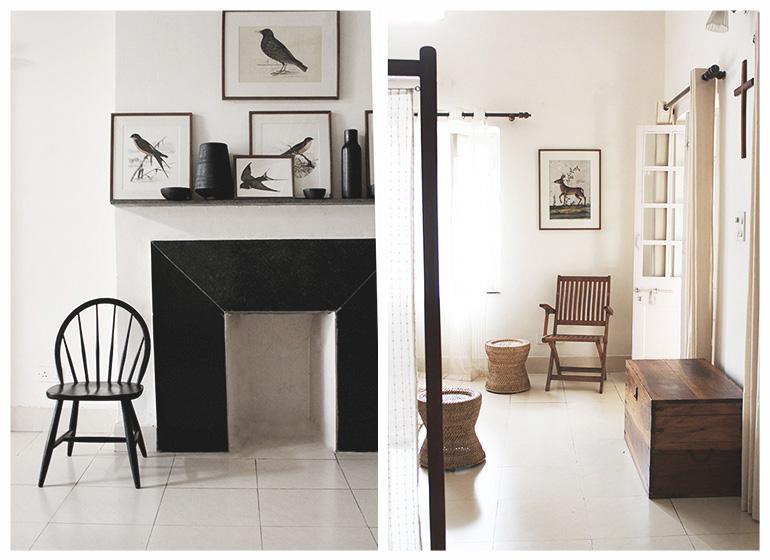 calm, peaceful decoration, india, furniture, teak, vintage