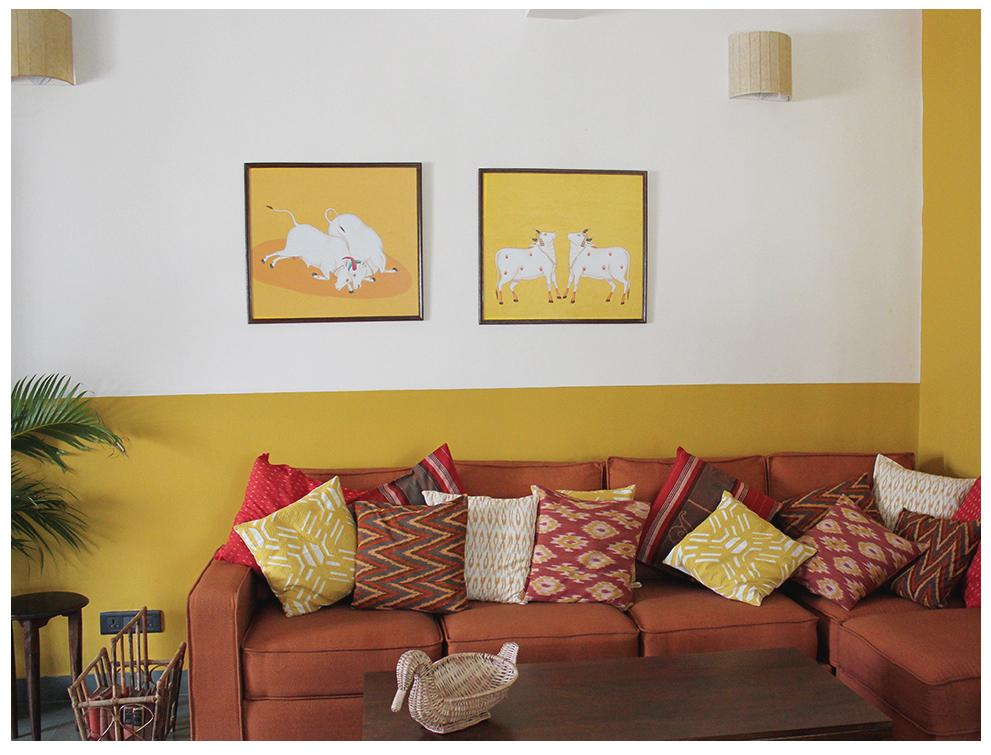 half painted walls, india, wall, beautiful, interiors, bangalore, delhi, furnishings, home
