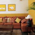 Half Painted Walls, beautiful interior design, India, Bangalore, traditional, vernacular, natural interiors, kota stone