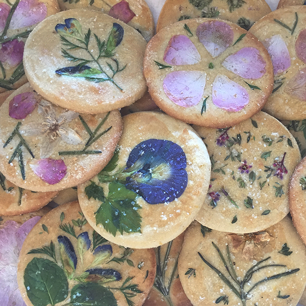 garden, flowers, shortbread cookies, india, natural
