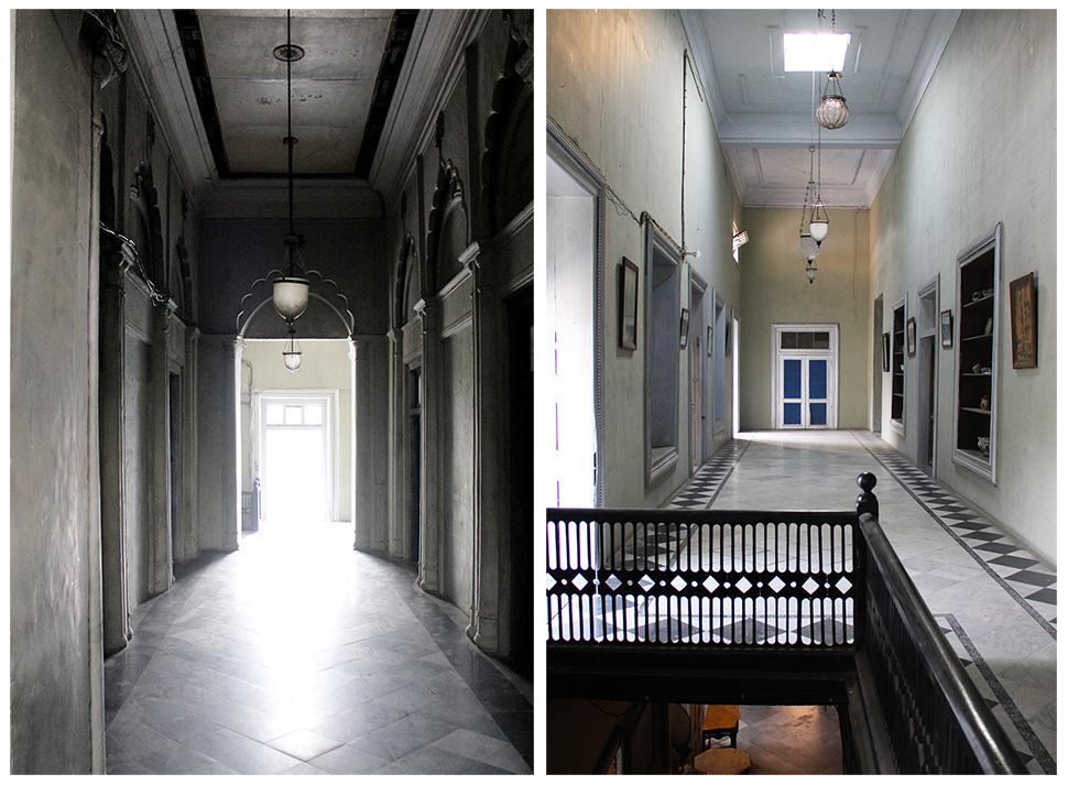 passageway, marble floor, balustrade, interior design