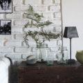 vintage, trunk, natural, decor, exposed brick