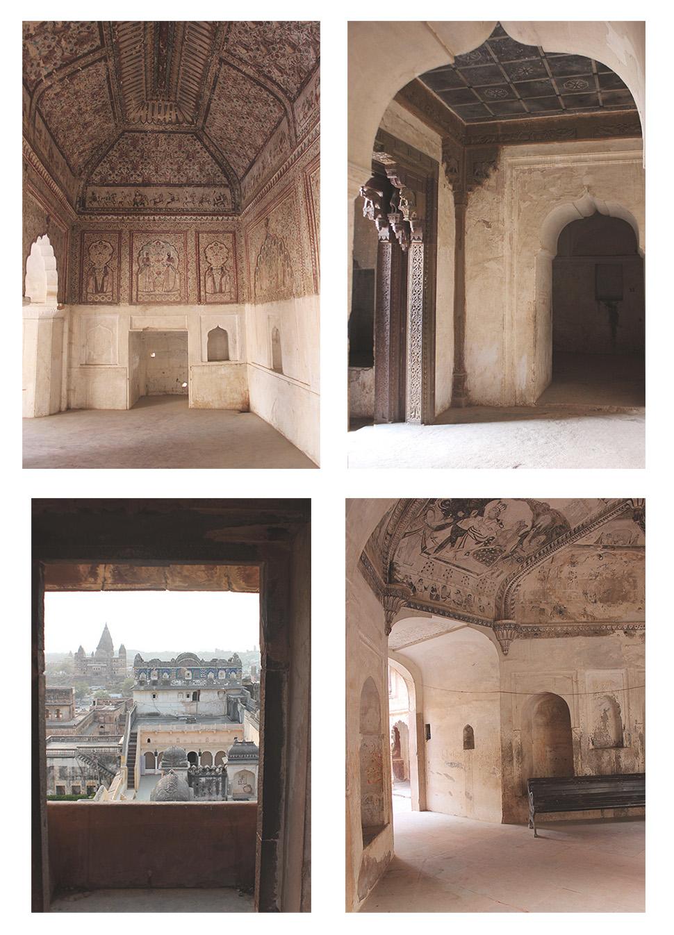 orchha, frescoes, stone, history