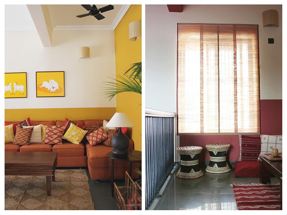 half painted walls, india, wall, beautiful, interiors, bangalore, delhi
