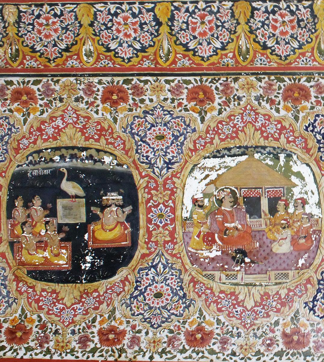 interior design, india, vernacular, architecture, natural design, rajasthan design, sona chandi haveli, frescoes, shivani dogra