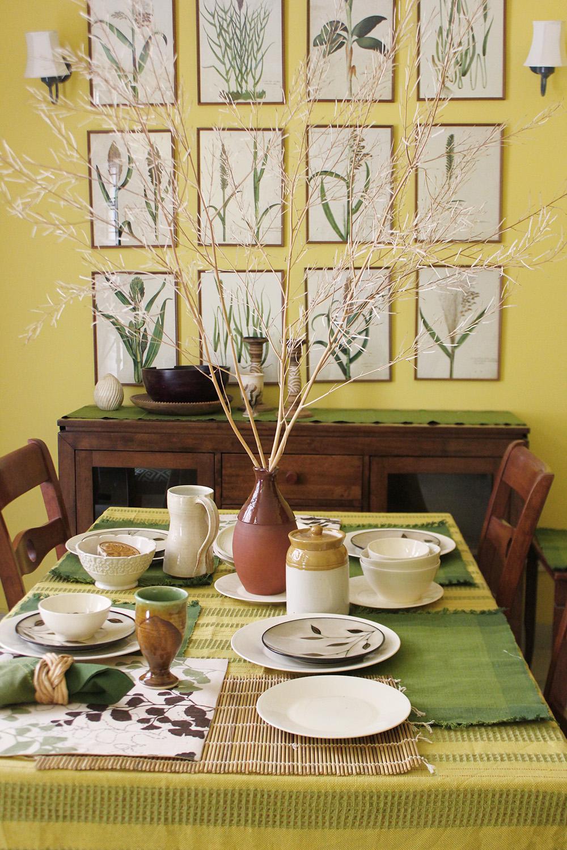 wall art placement, botanical prints, india, interior design, delhi, dining table, natural design, elegant, shivani dogra